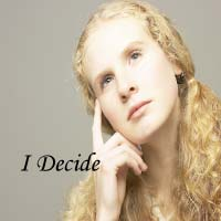 contemplative woman-I decide