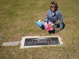 Me at Mom's gravesite