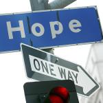 HOPE street sign